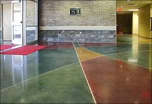 Colorful Concrete Floors