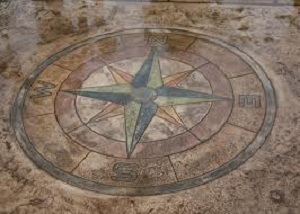 Concrete Floor Compass